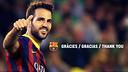 Cesc Fàbregas s'acomiada del FC Barcelona en una carta