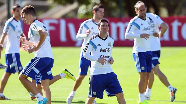 Messi in training with Argentina / PHOTO: FIFA.COM