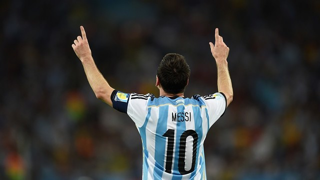 Messi scores his first goal of the 2014 World Cup / PHOTO: fifa.com