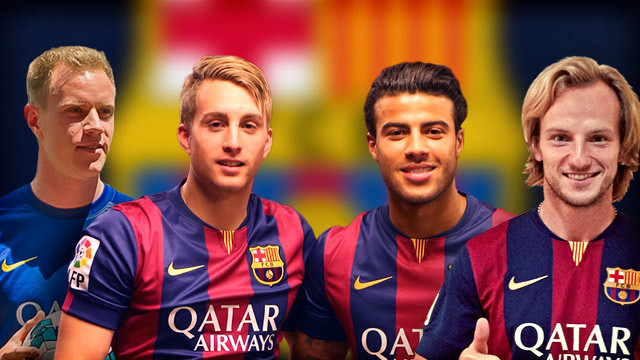 Four new faces: Ter Stegen, Deulofeu, Rafinha and Rakitic
