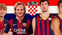 Alen Halilovic, Ivan Rakitic, Ante Tomic i Mario Hezonja, els quatre croats del FC Barcelona