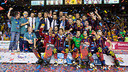 Foto de grup després de guanyar la Lliga Europea