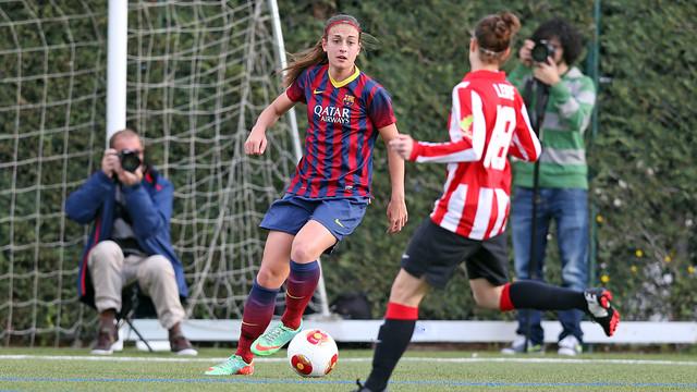 Femení A-Athletic de Lliga disputat a la Ciutat Esportiva la passada temporada