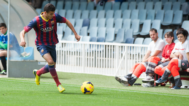 Moha, during the quarter final match/ PHOTO: Arxiu FCB
