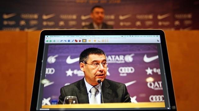 Josep Maria Bartomeu press conference