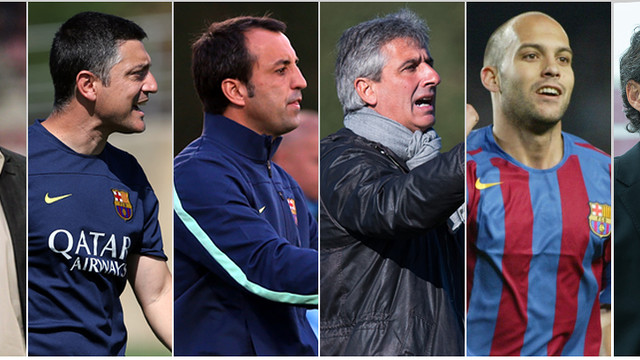 Luis Enrique, first team coach, Eusebio with Barça B, and Vinyals, U18 A coach, are the main three