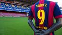 Luis Suárez's shirt awaits him at the Camp Nou. PHOTO: GERMÁN PARGA-FCB.