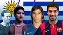 Luis Suárez is the 17th Uruguayan to play for Barça. PHOTO: FCB