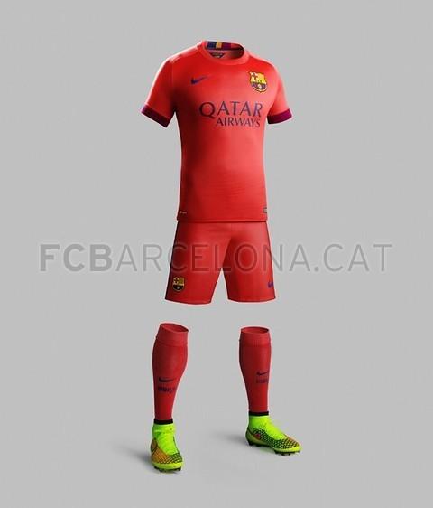 پیراهن دوم بارسلونا برای فصل 2014/15