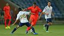 Afellay played in the second half against Recreativo Huelva / PHOTO: MIGUEL RUIZ - FCB