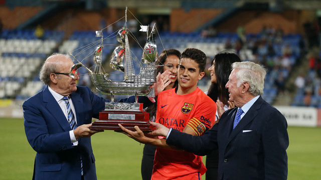 Bartra with the Trofeu Colombino