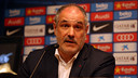 Andoni Zubizarreta during the presentation of Jérémy Mathieu / PHOTO: MIGUEL RUIZ - FCB