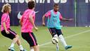 Rafinha durant l'entrenament d'aquest divendres / FOTO: MIGUEL RUIZ - FCB