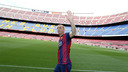 Jérémy Mathieu at the Camp Nou / PHOTO: MIGUEL RUIZ - FCB