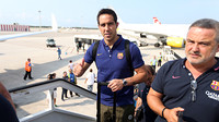 Claudio Bravo boarding the plane to England