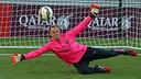 Ter Stegen à l'entrainement / PHOTO: MIGUEL RUIZ-FCB