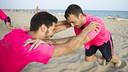 Fernández y Panadero en pleno entrenamiento / FOTO: VÍCTOR SALGADO - FCB