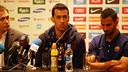 Sergio Busquets and Martín Montoya / PHOTO: MIGUEL RUIZ - FCB