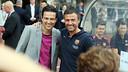 Jari Litmanen and Luis Enrique, together in Helsinki / PHOTO: MIGUEL RUIZ-FCB
