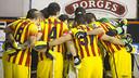 El equipo hace piña antes de un partido / FOTO: ARCHIVO FCB