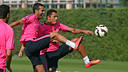 Pedro Rodríguez exercised normally on Saturday morning / PHOTO: MIGUEL RUIZ - FCB