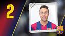 Imatge oficial d'Aicardo amb la samarreta del FC Barcelona