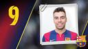 Imatge oficial de Lozano amb la samarreta del FC Barcelona