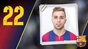Imatge oficial de Usin amb la samarreta del FC Barcelona
