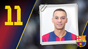 Imatge oficial de Saad amb la samarreta del FC Barcelona
