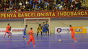 Barça against the Indonesian side / PHOTO: YANYA LUBIS