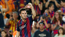 Messi scores his first goal in season 2014/15 / FOTO: MIGUEL RUIZ-FCB