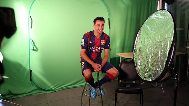 Xavi, durant la gravació de les accions promocionals