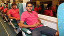 Marc Bartra was among the 18 players that boarded a train for Villarreal/ PHOTO: MIGUEL RUIZ - FCB