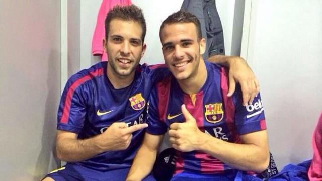 Jordi Alba y Sandro / FOTO: @jordialba