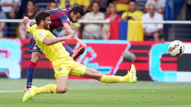 Pedro and Musacchio. PHOTO: MIGUEL RUIZ-FCB.