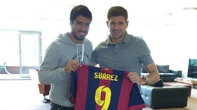 Suárez and Gerrard PHOTO: @stevengerrard