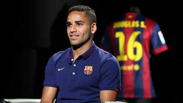 Douglas Pereira, durant l'entrevista amb Barça TV FOTO: FCB