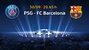 Paris SG v FC Barcelona.