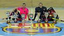 Panadero y Egurrola, con las siete Supercopas de España / FOTO: MIGUEL RUIZ - FCB