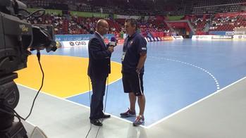 Pascual entrevistado por BeIN Sports. /FOTO:FCB