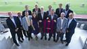 The NBA delegation was welcomed to the Camp Nou by President Bartomeu / PHOTO: VÍCTOR SALGADO - FCB