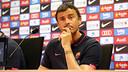 Luis Enrique was speaking to the press on Friday / PHOTO: MIGUEL RUIZ - FCB