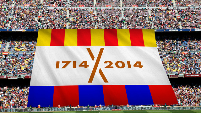 The banner will be unfurled on Saturday afternoon. FCB PHOTOMONTAGE