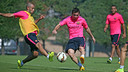 Mascherano and  Messi are in the squad for the game against Bilbao / PHOTO: ARXIU FCB