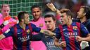 Ter Stegen, Sandro Ramírez, Douglas, Masip, Munir y el técnico, Luis Enrique / FOTO: FCB