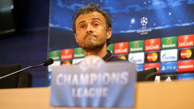 Luis Enrique, en rueda de prensa / FOTO: MIGUEL RUIZ-FCB