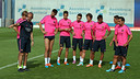 Last night's starters had a light workout. PHOTO: MIGUEL RUIZ-FCB.