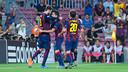 Les joueurs après le but / PHOTO: MIGUEL RUIZ-FCB