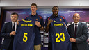 Justin Doellman and DeShaun Thomas / PHOTO: GERMÁN PARGA - FCB