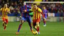 Leo Messi durante el partido de la temporada pasada en el Ciudad de Valencia / FOTO: MIGUEL RUIZ - FCB